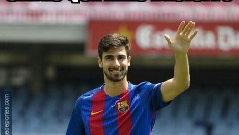 André Gomes, protagonista de los memes del Atlético-Barcelona