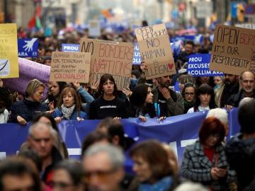 Marcha acogida refugiados