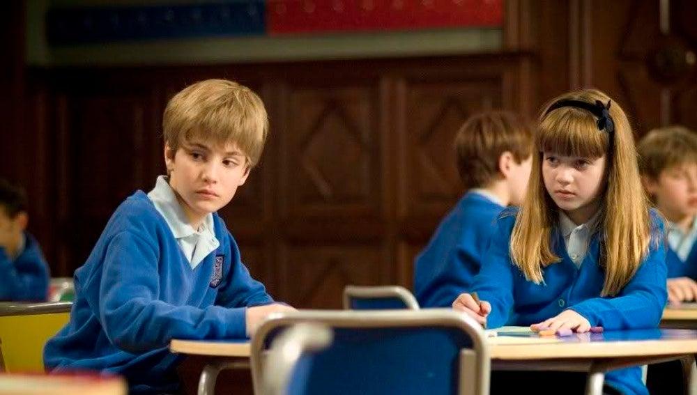 Lucas y Paula en 'El Internado'