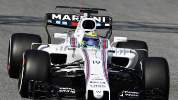 Felipe Massa y su nuevo Williams en los test de pretemporada