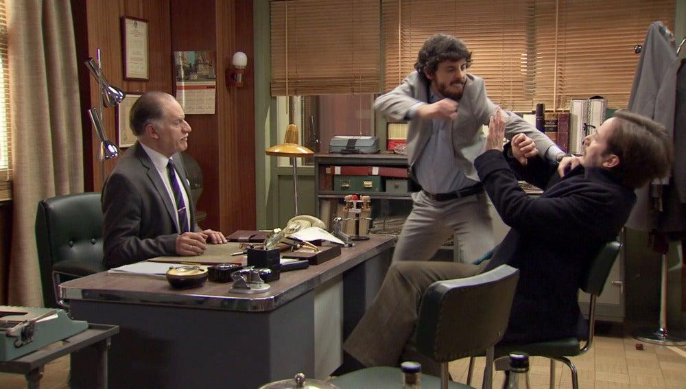 Jaime pierde el control ante el manager de 'La Pulga'