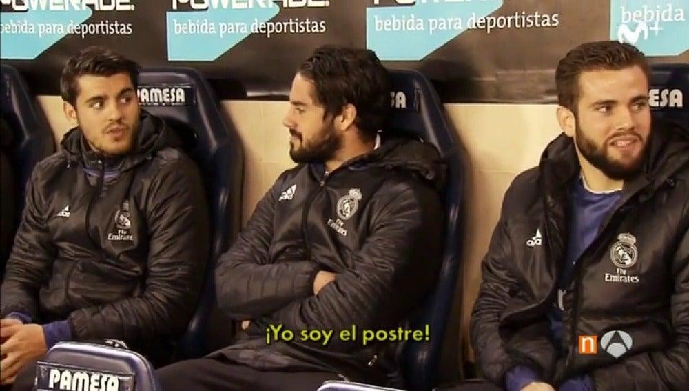 """Isco y Morata se calificaron en el banquillo del Estadio de la Cerámica como """"segundo plato"""" y """"postre"""""""