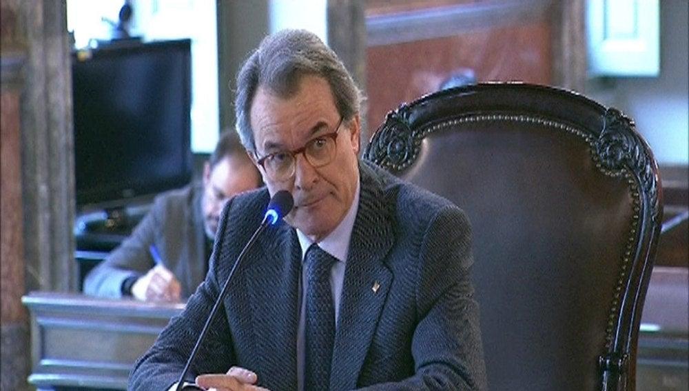 Artur Mas durante su declaración