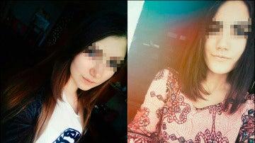 Yulia Konstantinova, de 15 años, y Veronika Volkova, de 16 años, antes de suicidarse