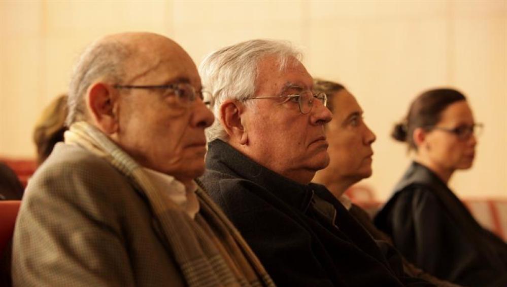 El expresidente del Palau de la Música, Félix Millet (i), junto al exdirector administrativo del Palau de la Música, Jordi Montull
