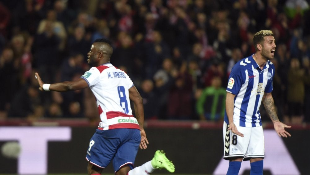 Wakaso celebra su gol ante el Alavés