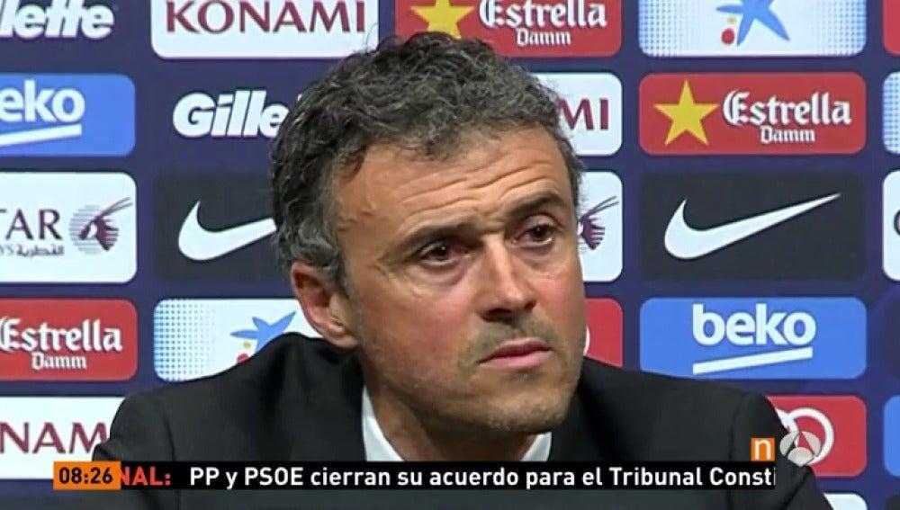 Frame 15.204637 de: Luis Enrique anuncia que se marcha del Barcelona a final de temporada