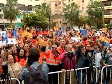 Manifestación en Algeciras en apoyo a los estibadores
