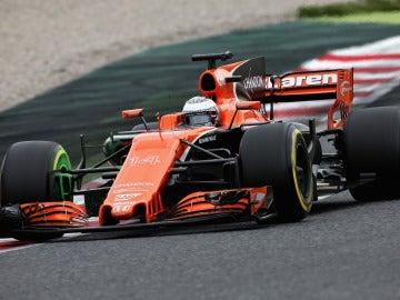 Fernando Alonso, en el trazado de Montmeló