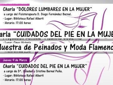 Frame 5.232 de: El programa del PP de Rota para el Día de la Mujer afianza estereotipos: peinados, moda y cuidado de pies