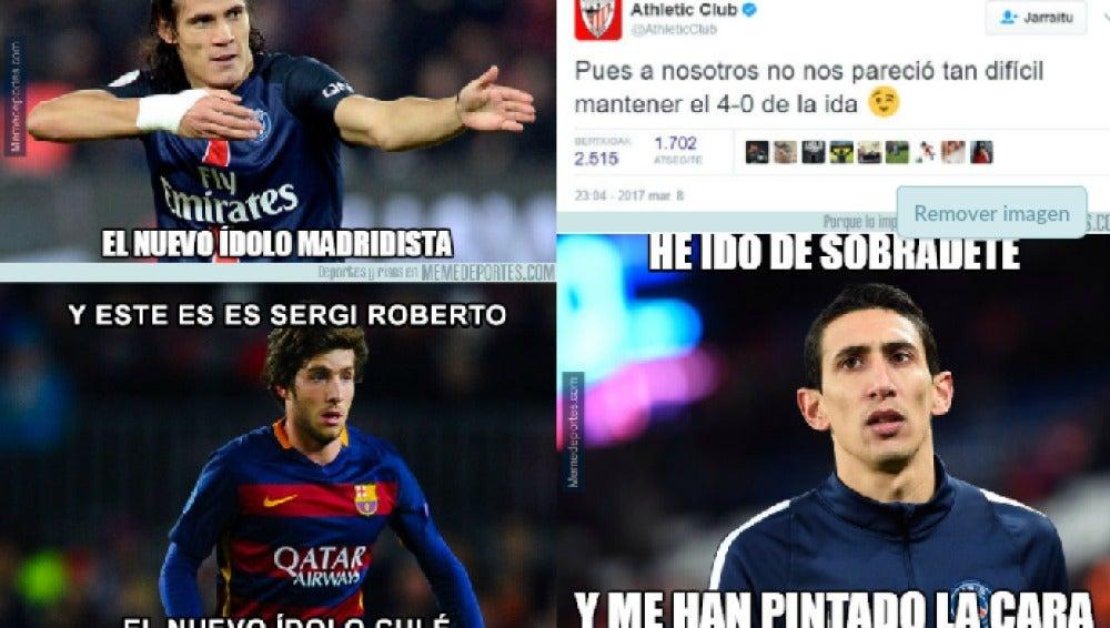 Memes del Barça-PSG