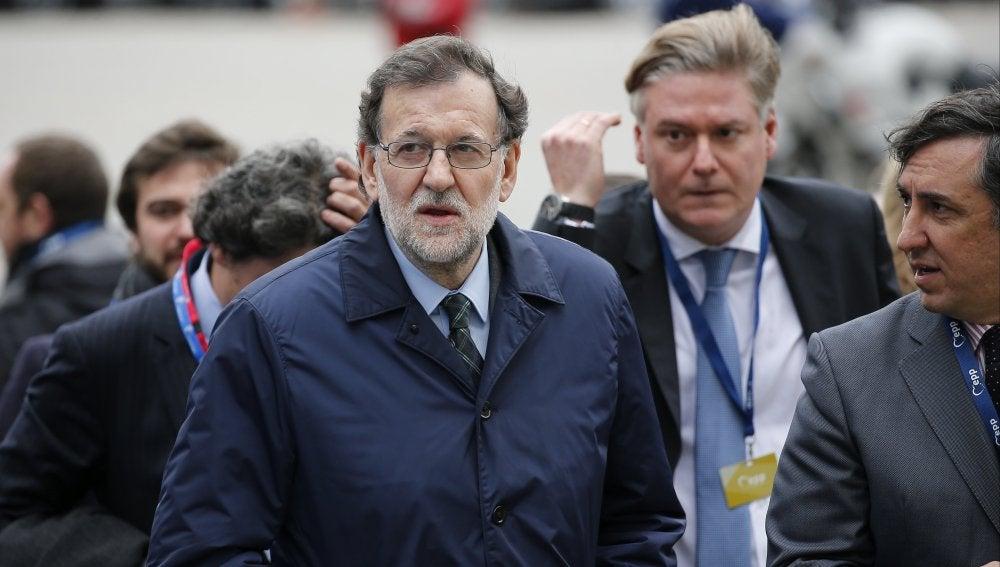 Mariano Rajoy a su llegada a Bruselas