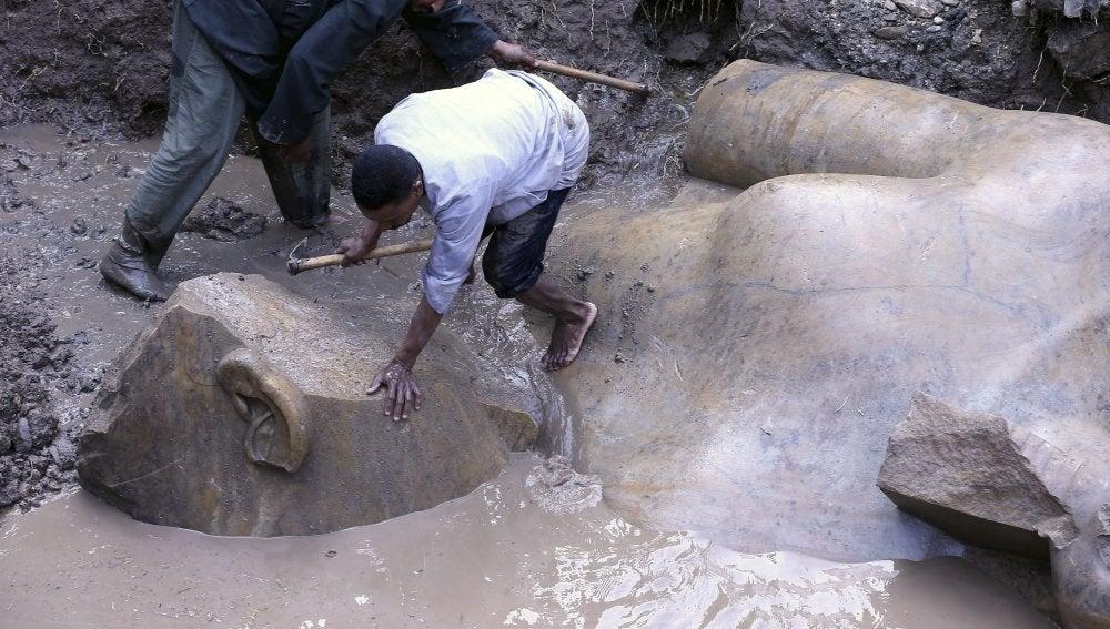 Expertos descubren un coloso que podría pertenecer a Ramsés II