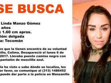 Linda Manzo Gómez, joven desaparecida en México