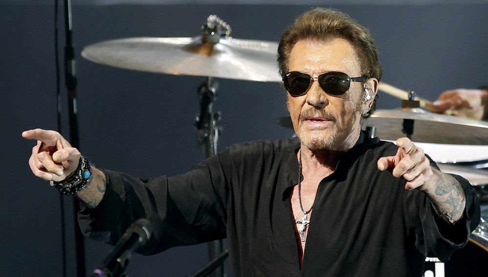 El legendario cantante Johnny Hallyday