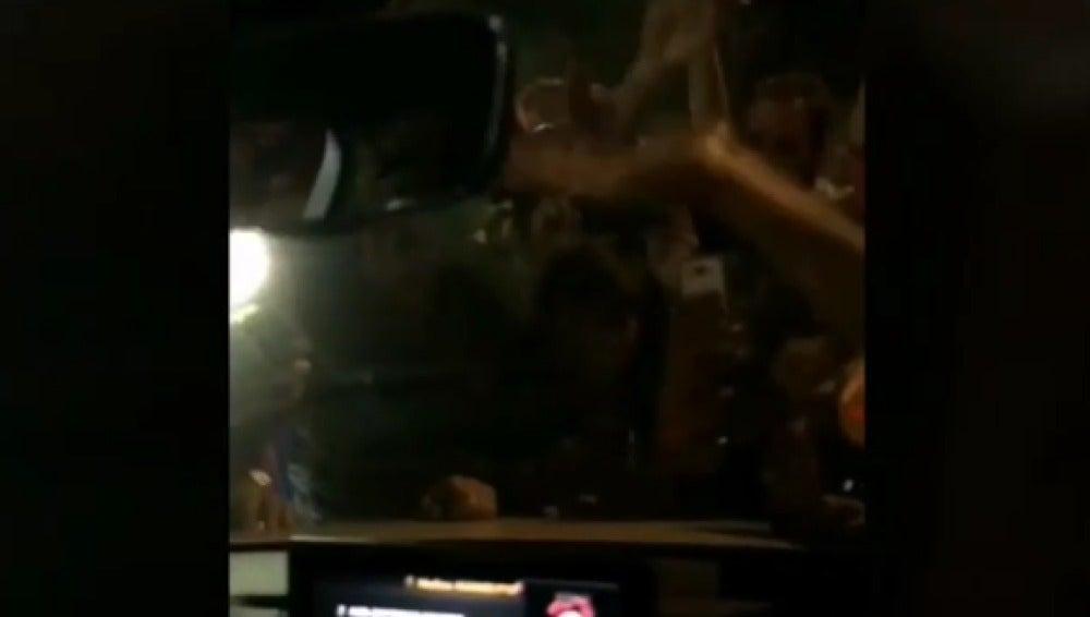El interior del coche de Messi, grabado por su mujer Antonella