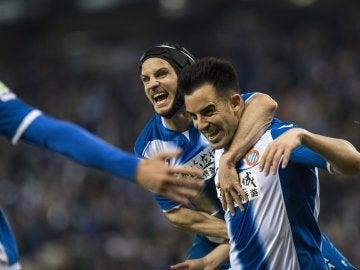 Jurado celebra un gol ante Las Palmas