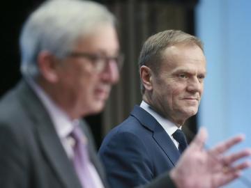 Juncker y Tusk en rueda de prensa