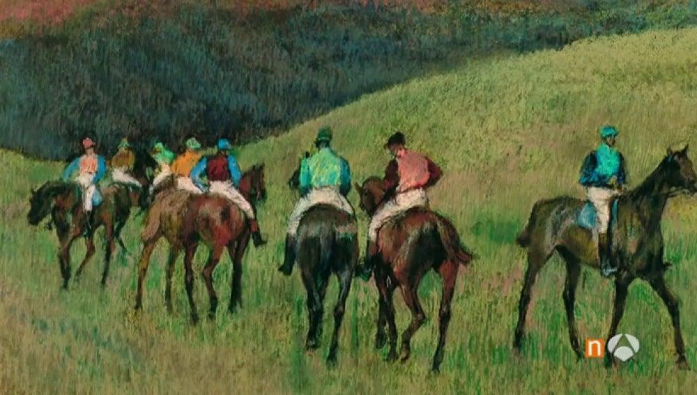 'Caballos de carreras en un paisaje', obra de la baronesa Thyssen