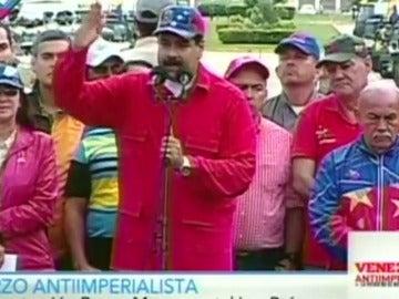Frame 18.655987 de: Nicolás Maduro le pide a Trump en inglés que no se deje influir por la oposición venezolana