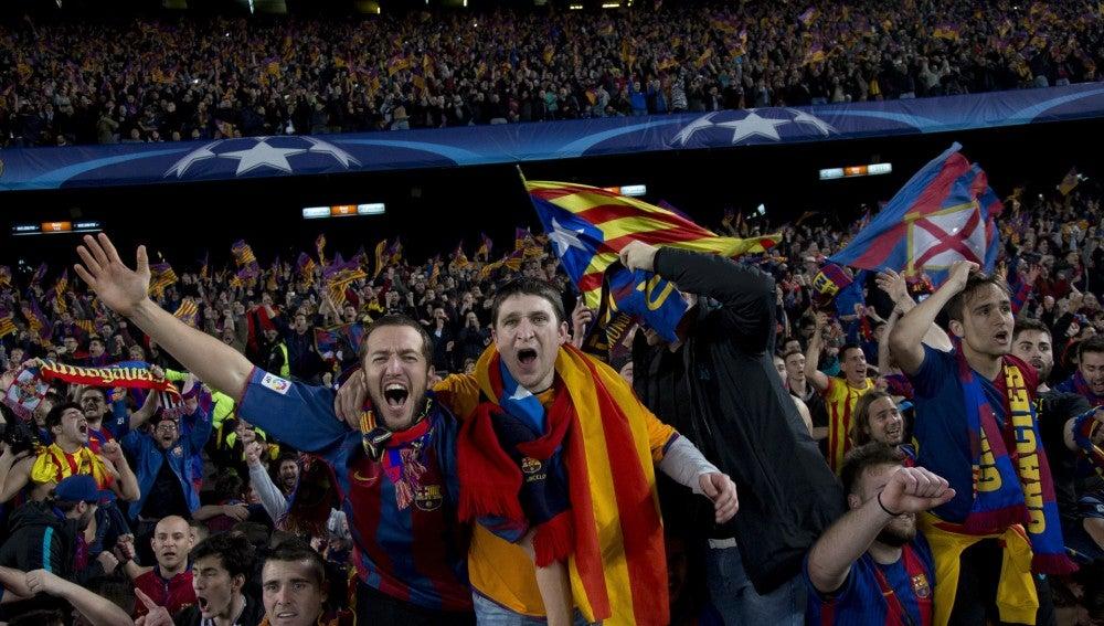 Así celebró el Camp Nou la remontada ante el PSG