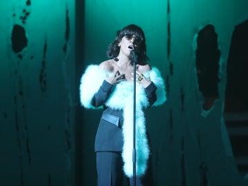 Ruth Lorenzo emociona al público de 'TCNMST' interpretando el tema 'Love on the brain' de Rihanna