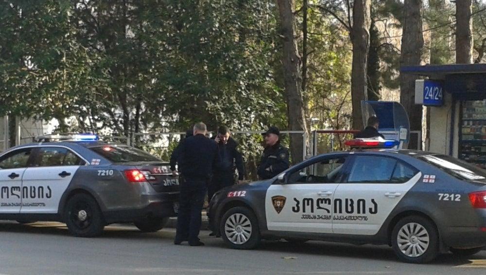 Imagen de archivo de dos coches de la policía en Georgia
