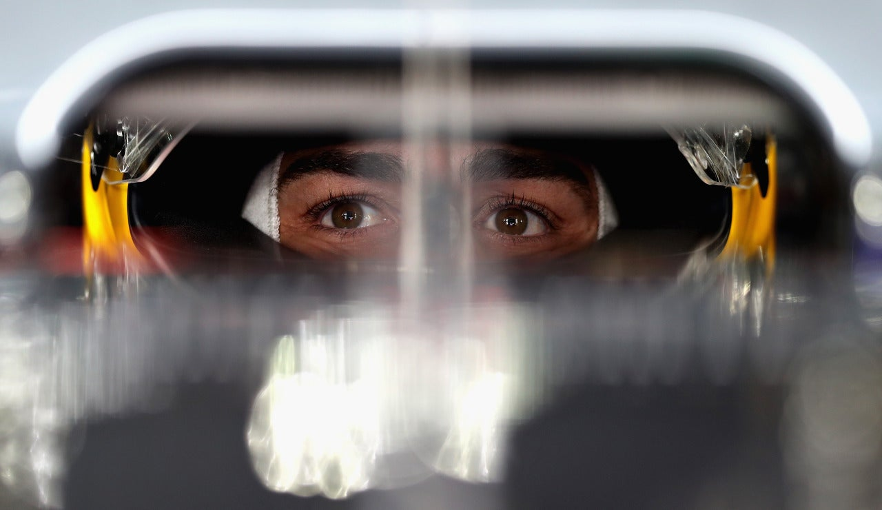 Fernando Alonso, concentrado