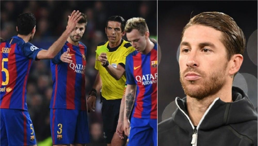 ¿Dardo de Sergio Ramos para la remontada del Barcelona?