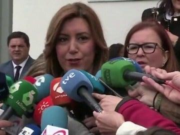 """Frame 1.081928 de: Susana Díaz emplaza al 26 de marzo para tratar las """"cuestiones de partido"""""""