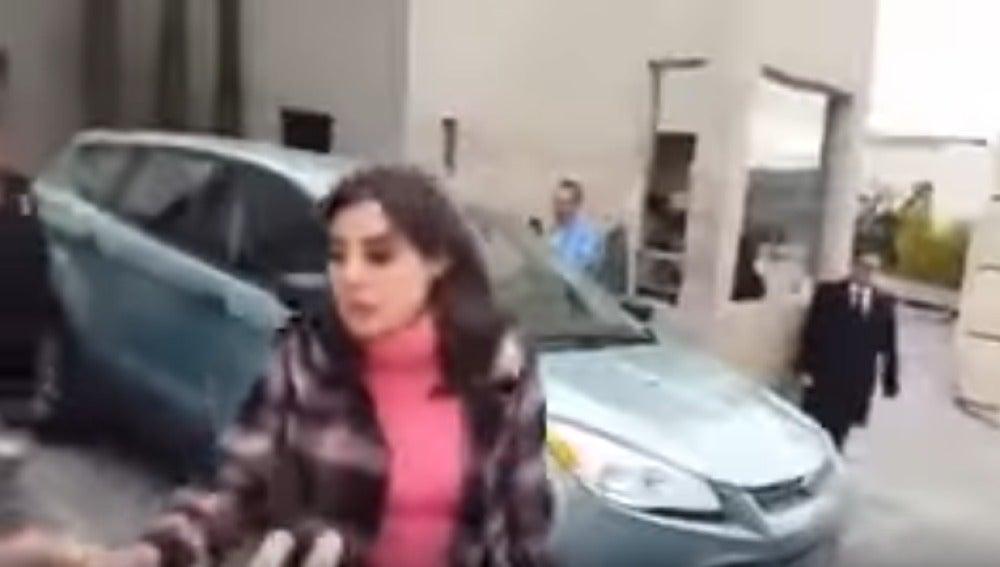 La mujer captada en vídeo