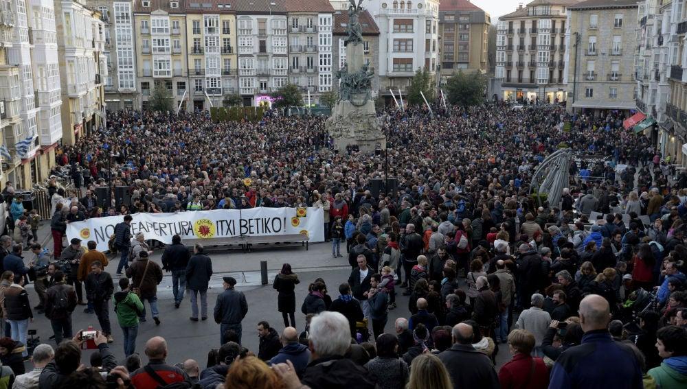Manifestación contra la planta nuclear de Garoña