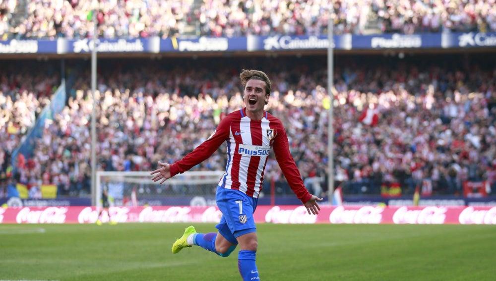 Griezmann celebra un gol