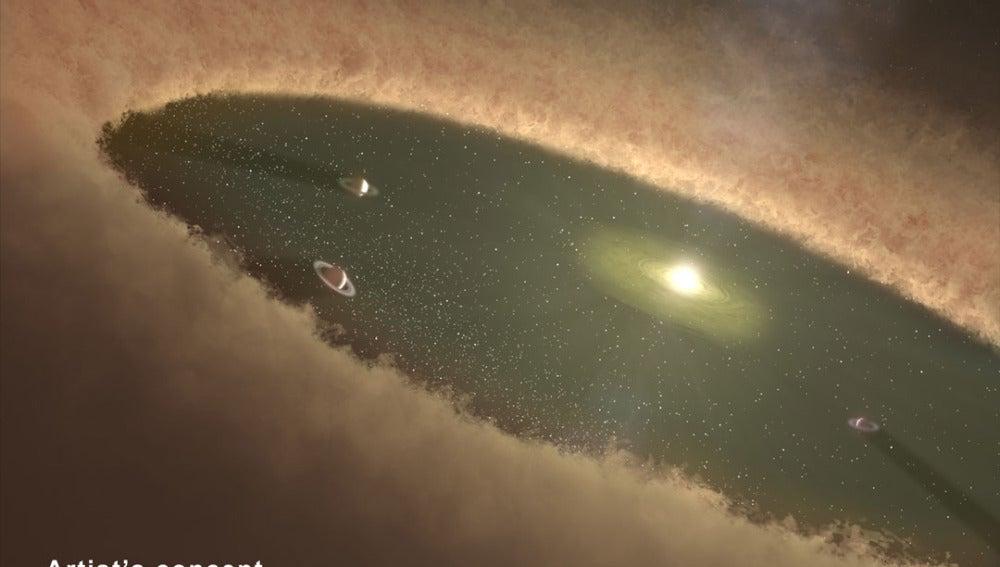 Imagen de una recreación de la NASA