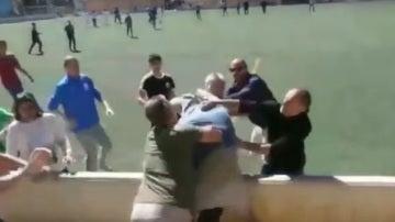 Pelea entre padres en un partido de infantiles en Mallorca