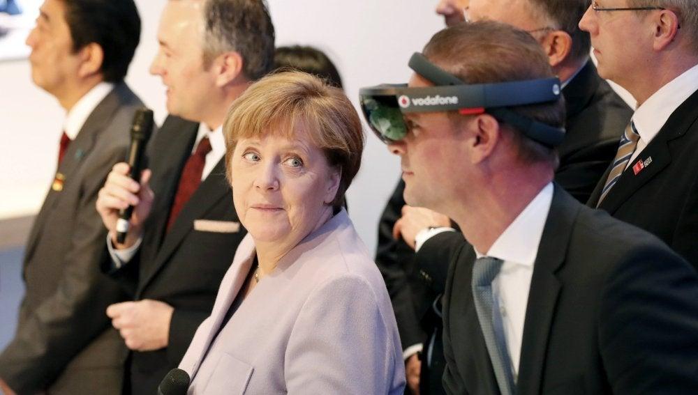La canciller alemana, Angela Merkel, en un acto