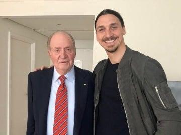 Ibrahimovic, junto al rey Juan Carlos