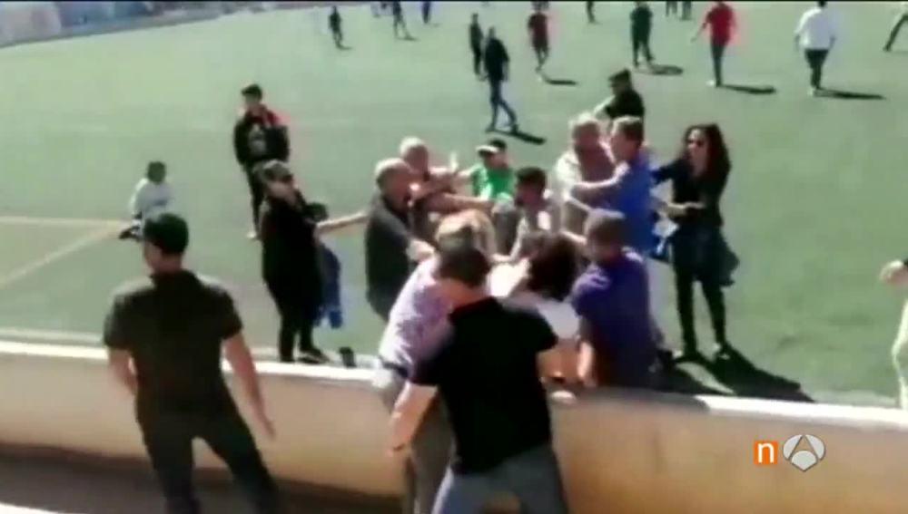 Pelea entre padres en Mallorca