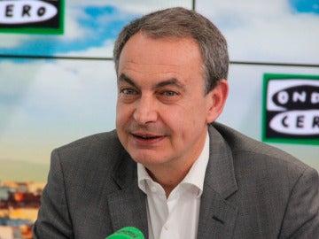 José Luis Rodríguez Zapatero durante una entrevista en Onda Cero