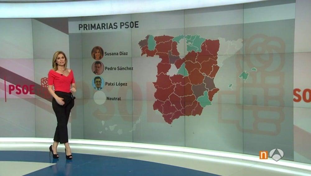 Frame 21.751111 de: Susana Díaz cuenta con el apoyo de la mayoría de los presidentes autonómicos y líderes provinciales del PSOE