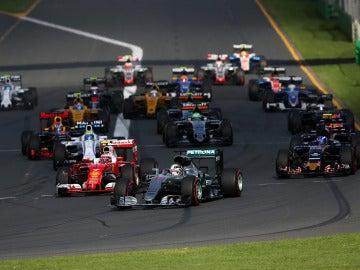 La salida del GP de Australia 2016
