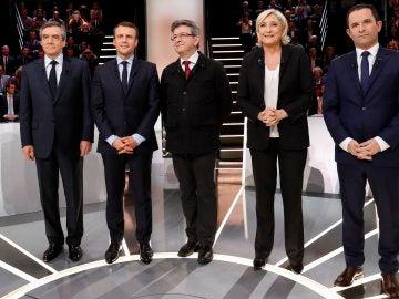 Los cinco candidatos favoritos en las presidenciales francesas
