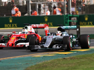 Hamilton contra Vettel, en el GP de Australia 2016