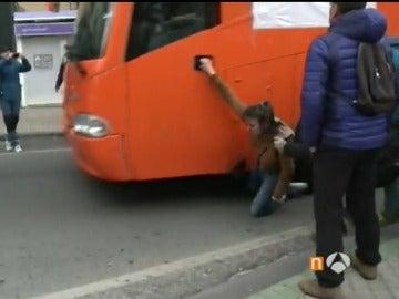 El autobús de Hazte Oír en Pamplona