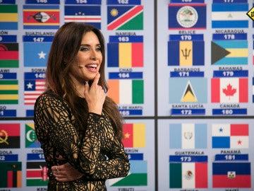 Pilar Rubio demuestra que es una mujer de 'bandera', aprendiéndose todas las capitales del mundo