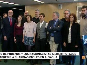 """Podemos muestra su """"solidaridad"""" con los detenidos por la agresión de Alsasua"""
