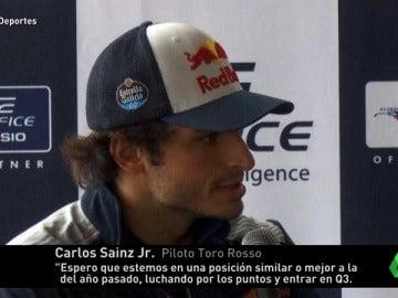 Frame 44.717842 de: Carlos Sainz, optimista con su coche de cara al inicio del mundial de Fórmula 1