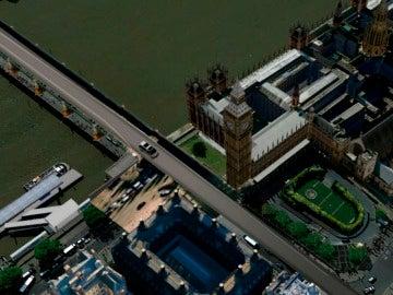 Recorrido del vehículo en el atentado de Londres