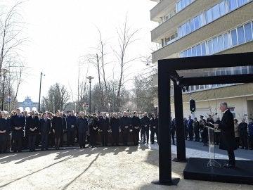Minuto de silencio en Bruselas