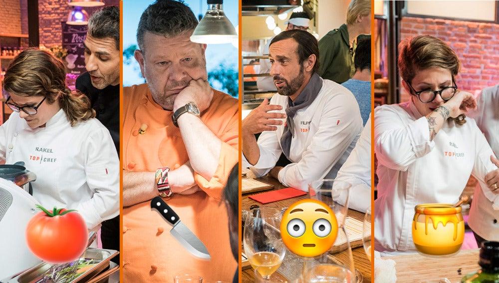 Falsas intolerancias, perros malos y una tensión insostenible, los momentazos del sexto programa de 'Top Chef'